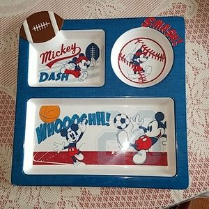NWOT MIKEY MOUSE  PLATE  never used